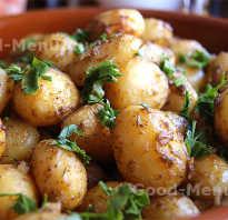 Картофель молодой в мундире запеченный в духовке