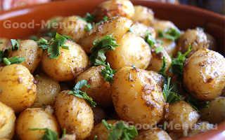 Молодой картофель в мундире запеченный в духовке