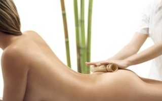 Восьмеркообразный массаж спины и ягодиц