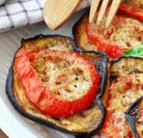 Жареные баклажаны с помидорами и сыром в духовке