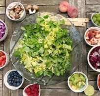 Несовместимость продуктов питания при одновременном употреблении таблица