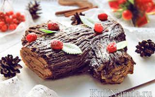 Рождественское полено рецепт французский