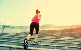 Сколько калорий сжигает бег по лестнице