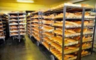 Стеллажи для хранения пищевых продуктов кроме хлеба должны быть не менее