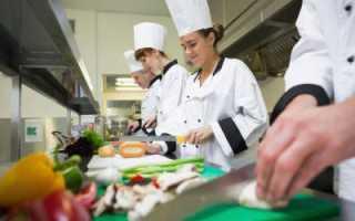 Санминимум для кухонного работника в школе