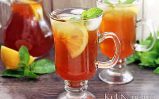 Холодный чай для похудения с имбирем