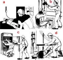 Как оказать помощь пострадавшему при действии неотрывного тока?