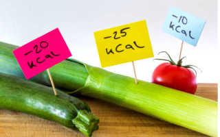 Низкокалорийное питание рецепты с указанием калорий