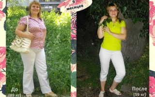 Как за 9 месяцев похудеть на 20 кг?