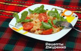 Паста с помидорами и базиликом рецепт