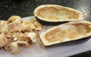 Фаршированные баклажаны в духовке с фаршем и сыром и с грибами