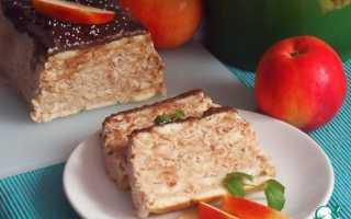 Рецепт творожно яблочное чудо просто тает во рту